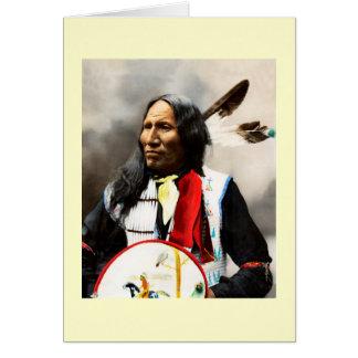 Jefe indio de Siux Tarjeta De Felicitación