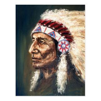 Jefe, nativo americano postal