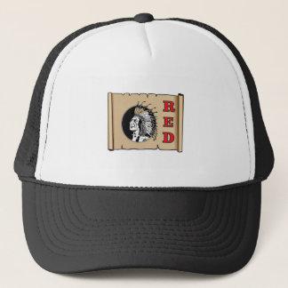 jefe rojo grande gorra de camionero
