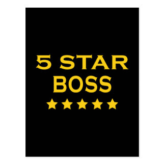 Jefes frescos divertidos Cinco estrella Boss Postales