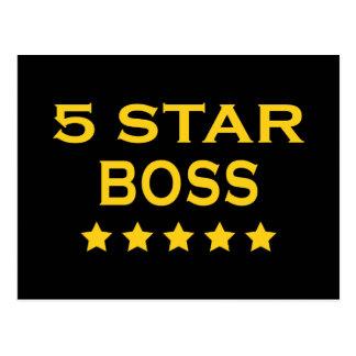 Jefes frescos divertidos: Cinco estrella Boss Tarjetas Postales