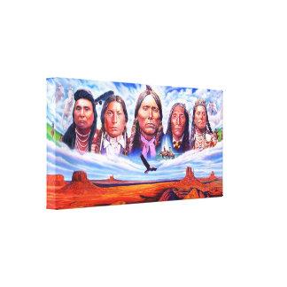 jefes indios del nativo americano por hizli serdar lienzo
