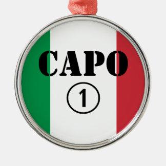 Jefes italianos Uno de Numero de la ceja Ornamento De Navidad