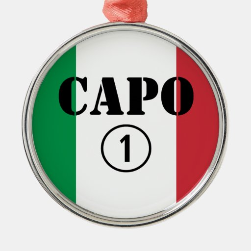 Jefes italianos: Uno de Numero de la ceja Ornamento De Navidad