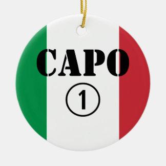 Jefes italianos Uno de Numero de la ceja Adorno