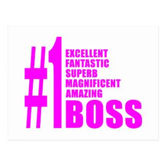 Jefes modernos rosados: Número uno Boss Postal