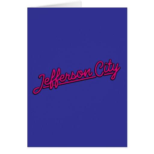 Jefferson city en magenta tarjeton