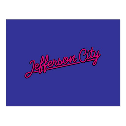 Jefferson city en magenta postales