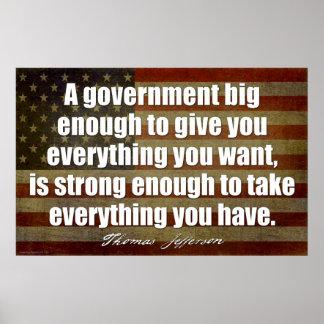 Jefferson: Un gobierno bastante grande… Póster