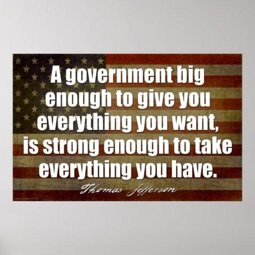 Jefferson: Un gobierno bastante grande… Posters