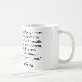 Jefferson: Un gobierno sabio y frugal Taza De Café