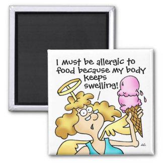 Jején alérgico al imán de la comida