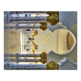 Jeque Zayed Grand Mosque Corridor Arte Fotografico