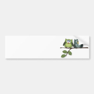 Jerarquía de los búhos etiqueta de parachoque