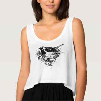 Jerarquía de los pájaros camiseta con tirantes
