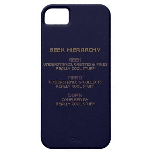Jerarquía del friki iPhone 5 Case-Mate protector