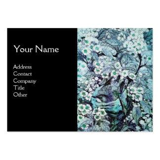 JERARQUÍA del PÁJARO, monograma, negro blanco azul Tarjetas De Visita Grandes