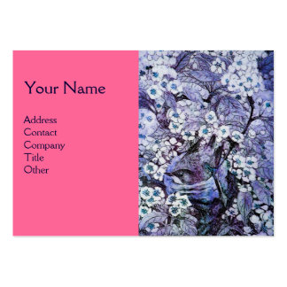 JERARQUÍA del PÁJARO, monograma, rosa blanco azul Tarjetas De Visita Grandes