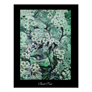 JERARQUÍA del PÁJARO, negro verde blanco Posters