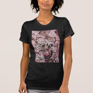 JERARQUÍA del PÁJARO, rosa rojo blanco Camiseta