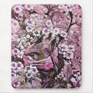 JERARQUÍA del PÁJARO, violeta rosada roja blanca Alfombrilla De Ratón