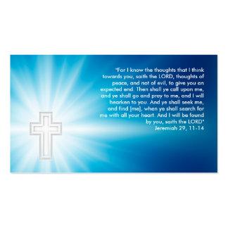 Jeremiah 29 11-14 - Tarjeta de visita cristiana