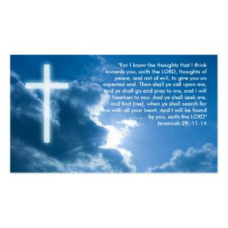 Jeremiah 29; 11- cristiano del 14% el pipe% tarjetas de visita