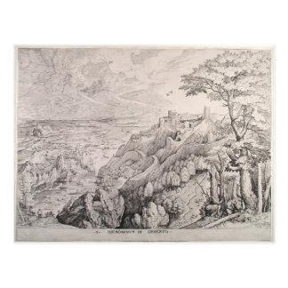 Jerome en el desierto de Pieter Bruegel la anciano Tarjeta Postal