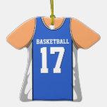 Jersey azul y blanco 17 V1 del baloncesto Ornamento De Reyes Magos