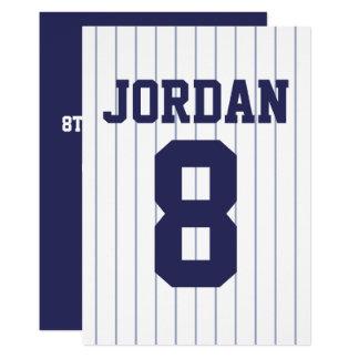 Jersey de béisbol - fiesta de cumpleaños del tema invitación 12,7 x 17,8 cm