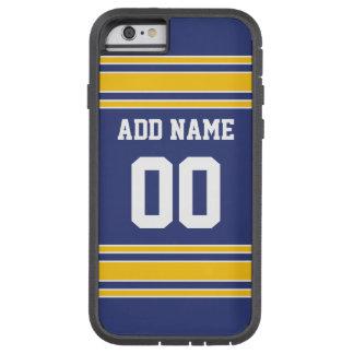 Jersey de equipo con nombre y número de encargo funda para  iPhone 6 tough xtreme