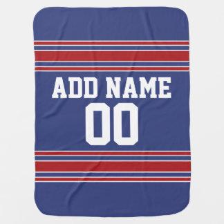 Jersey de equipo con nombre y número de encargo mantita para bebé