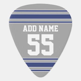 Jersey de equipo con nombre y número de encargo púa de guitarra