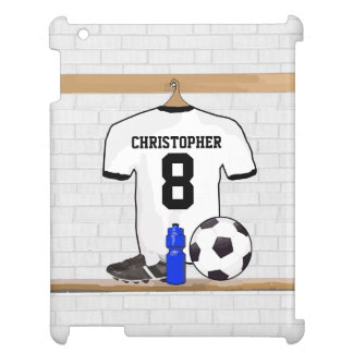 Jersey de fútbol negro blanco personalizado del