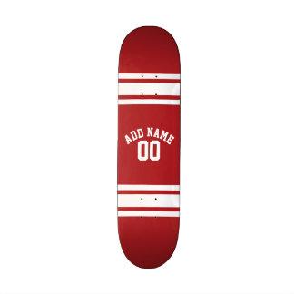 Jersey de los deportes con su nombre y número patines personalizados