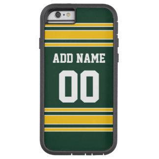 Jersey del fútbol con número conocido de encargo funda de iPhone 6 tough xtreme