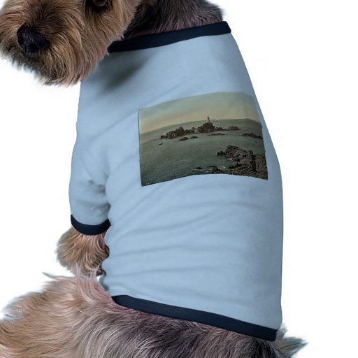 Jersey, faro de Corbiere, I, Islas del Canal, E Camisetas De Perro