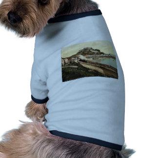 Jersey, Gorey y el castillo, isla de canal, Inglés Camiseta De Perro