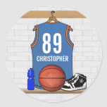 Jersey personalizado del baloncesto (LBO) Pegatina Redonda