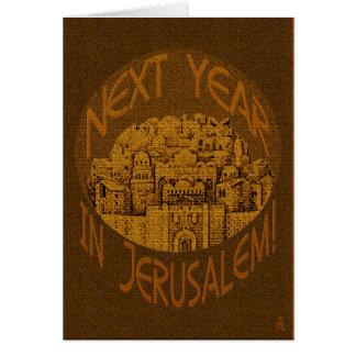 Jerusalén Brown - personalizado Tarjeta De Felicitación