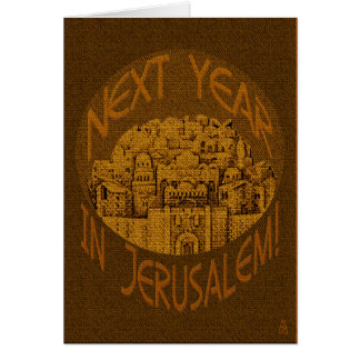 Jerusalén Brown tarjeta adaptable del Passover