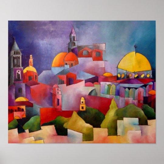 Jerusalén del oro póster