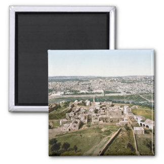 Jerusalén hacia 1900 imán cuadrado