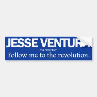 Jesse Ventura - sígame al parachoque de la revoluc Pegatina Para Coche