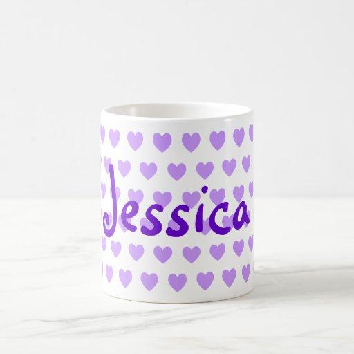 Jessica en púrpura tazas de café