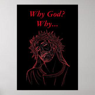 ¿Jesucristo con la corona de espinas, por qué Póster