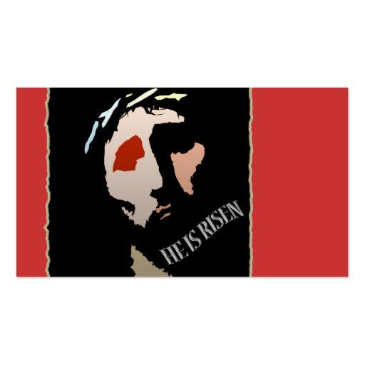 Jesucristo cristiano él es religioso subido tarjeta de negocio