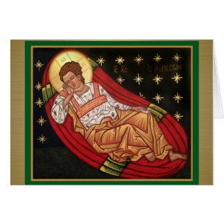 Jesucristo, el ICONO Unsleeping del ojo Tarjeta De Felicitación