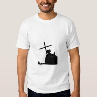 Jesucristo en una imagen blanco y negro camiseta