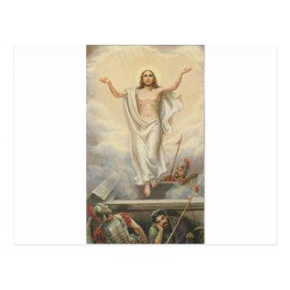 Jesucristo entre las nubes postal